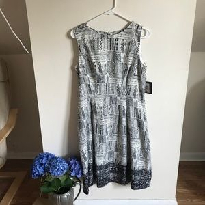 Black & White Pattern Dress